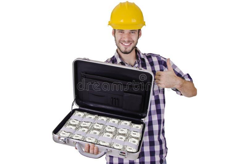 Σύνολο εργατών οικοδομών των μετρητών στοκ εικόνα