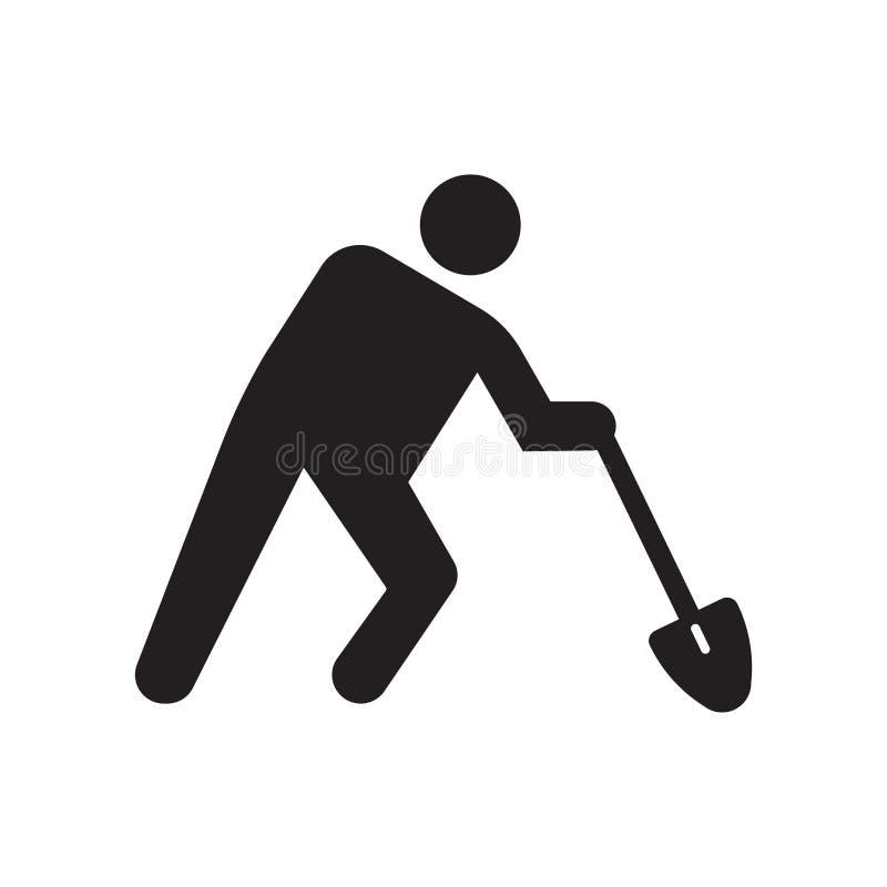 Εργαζομένων σημάδι και σύμβολο εικονιδίων διανυσματικό που απομονώνονται στο άσπρο υπόβαθρο, έννοια λογότυπων εργαζομένων ελεύθερη απεικόνιση δικαιώματος
