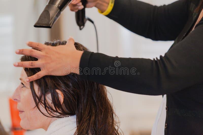Εργαζόμενες γυναίκες σαλονιών Hairstylist στοκ φωτογραφία με δικαίωμα ελεύθερης χρήσης
