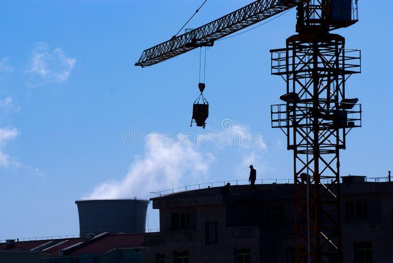 εργαζόμενοι εργοτάξιων οικοδομής στοκ φωτογραφία
