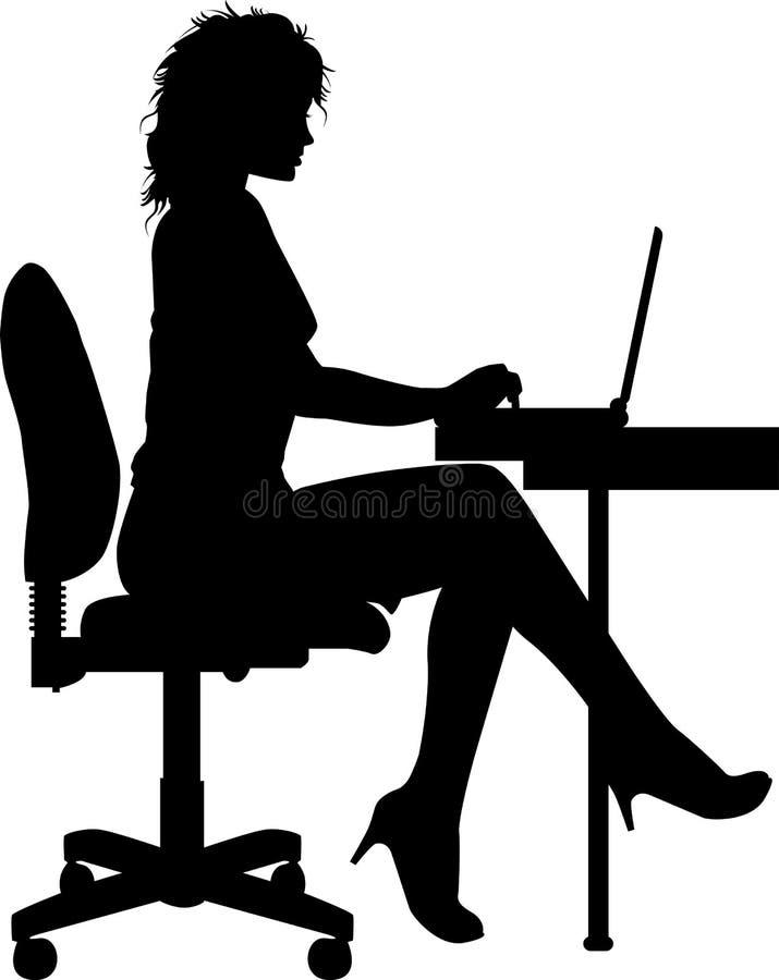 εργαζόμενος γραφείων ελεύθερη απεικόνιση δικαιώματος