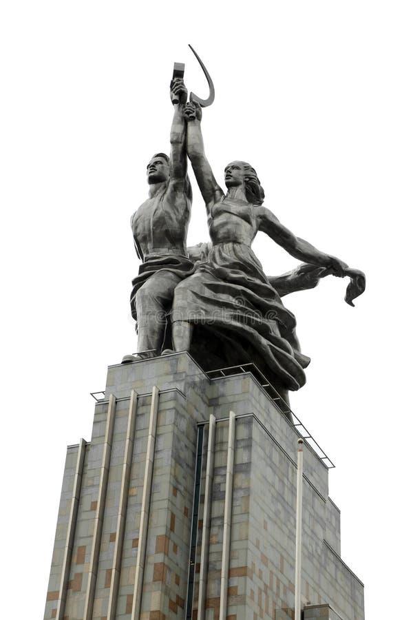 Εργαζόμενος και του κολχόζ μνημείο γυναικών στοκ εικόνα με δικαίωμα ελεύθερης χρήσης