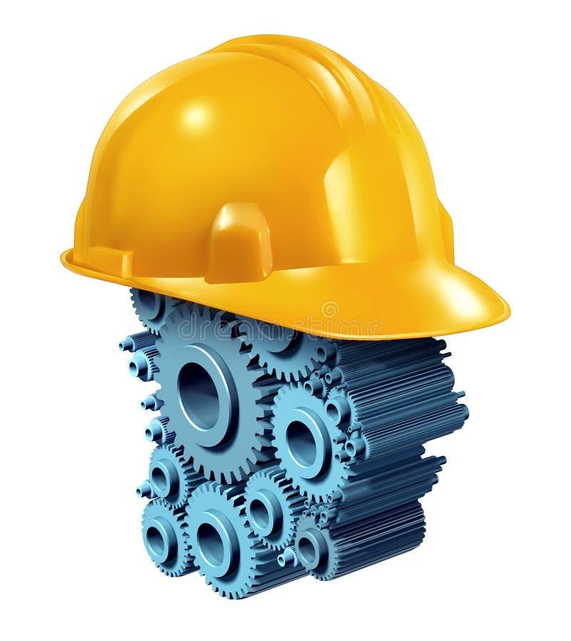 Εργαζόμενος κλάδος των οικοδομικών και τεχνικών έργων διανυσματική απεικόνιση
