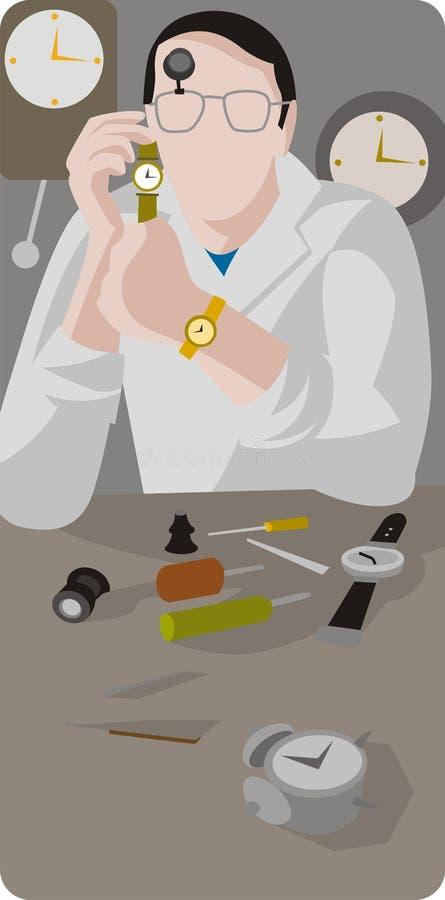 εργαζόμενος σειράς απε&io απεικόνιση αποθεμάτων