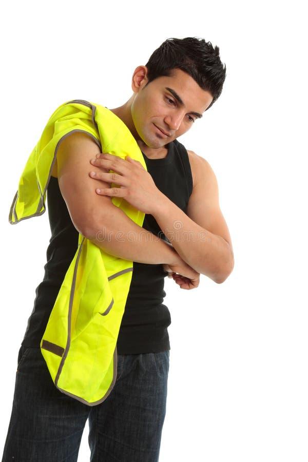 εργαζόμενος τραυματισμώ στοκ φωτογραφία με δικαίωμα ελεύθερης χρήσης