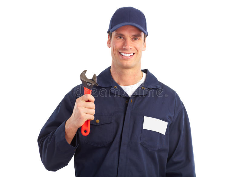 εργαζόμενος υδραυλικώ& στοκ εικόνες