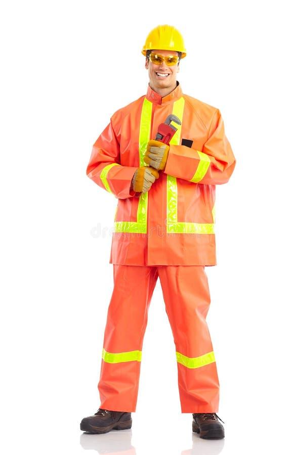 εργαζόμενος υδραυλικώ& στοκ φωτογραφίες