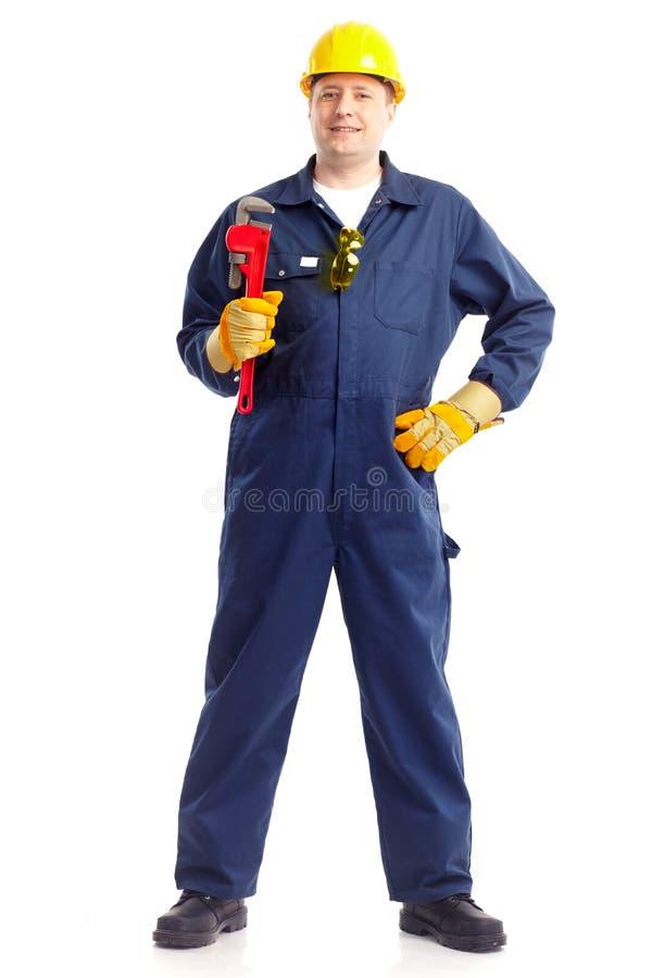 εργαζόμενος υδραυλικώ& στοκ εικόνα με δικαίωμα ελεύθερης χρήσης