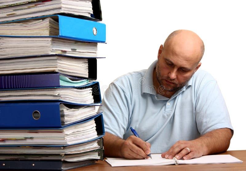 Εργαζόμενο άτομο στοκ εικόνα