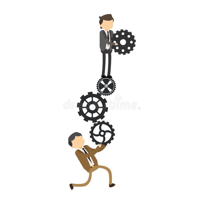 Εργαλεία εκμετάλλευσης επιχειρηματιών διανυσματική απεικόνιση