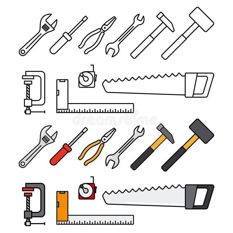 Εργαλεία επισκευής και κατασκευής διανυσματική απεικόνιση