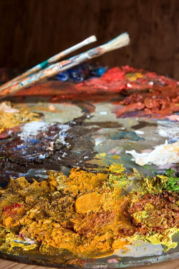 εργαλεία ζωγράφων s στοκ φωτογραφίες
