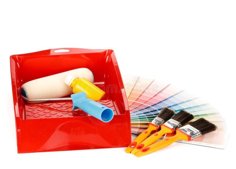 εργαλεία ζωγραφικής οδηγών χρώματος στοκ εικόνα με δικαίωμα ελεύθερης χρήσης