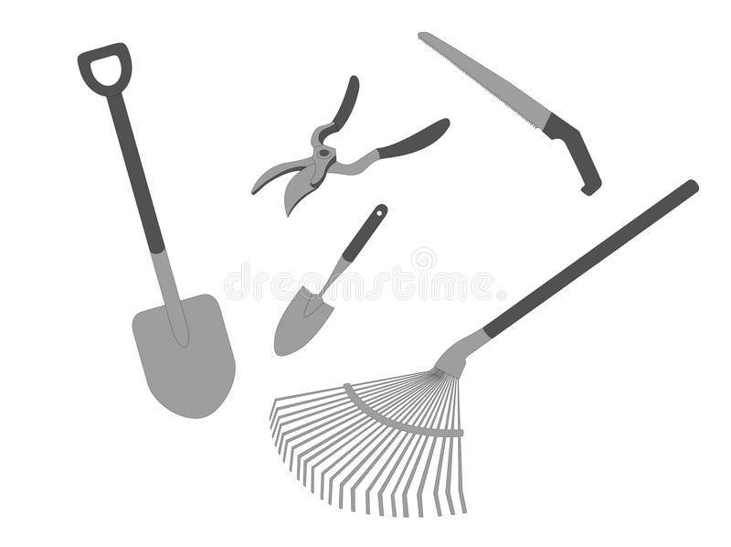 εργαλεία κήπων διανυσματική απεικόνιση