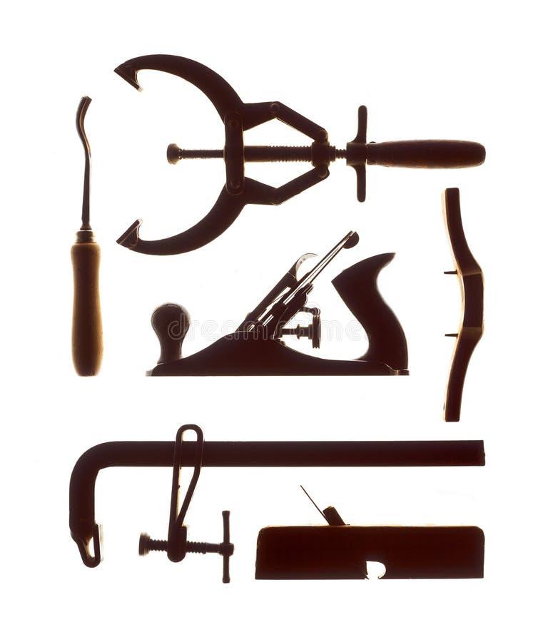 Εργαλεία ξυλουργών στο άσπρο υπόβαθρο version2 στοκ φωτογραφίες με δικαίωμα ελεύθερης χρήσης