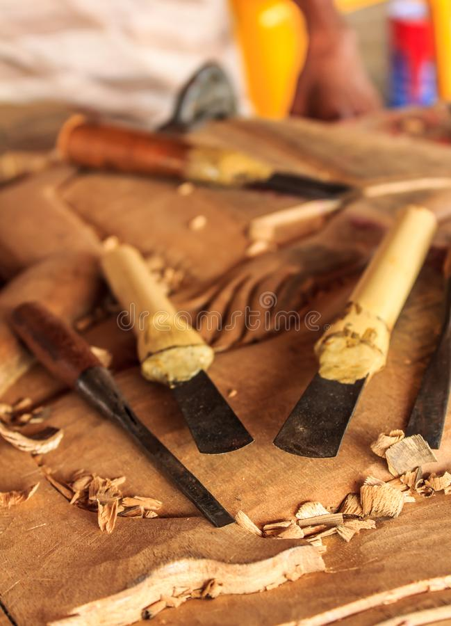 Εργαλεία του ξύλινου τροχιστή στοκ εικόνες με δικαίωμα ελεύθερης χρήσης