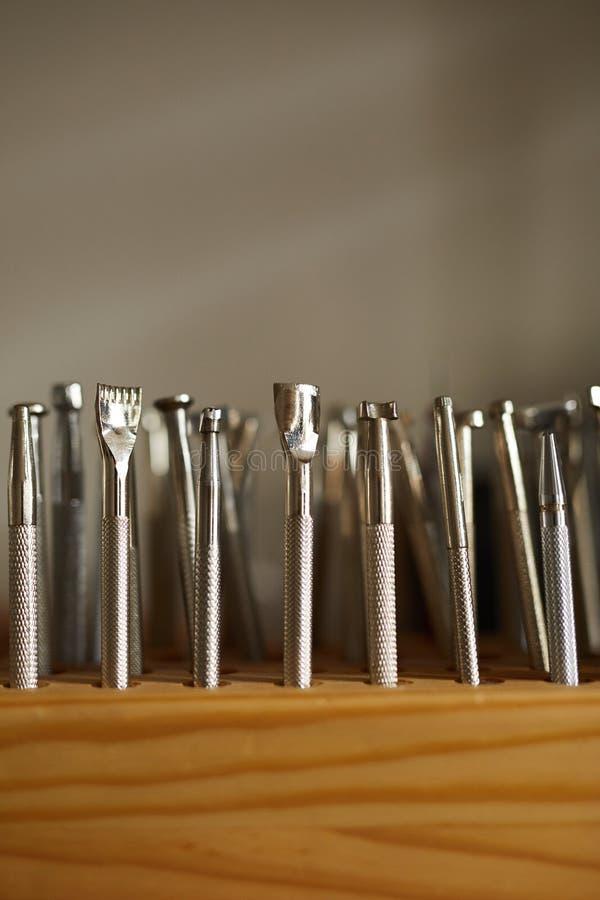 Εργαλεία Leatherwork στοκ φωτογραφία με δικαίωμα ελεύθερης χρήσης