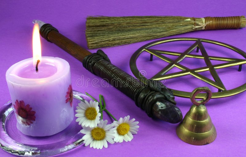 εργαλεία wiccan στοκ φωτογραφία με δικαίωμα ελεύθερης χρήσης