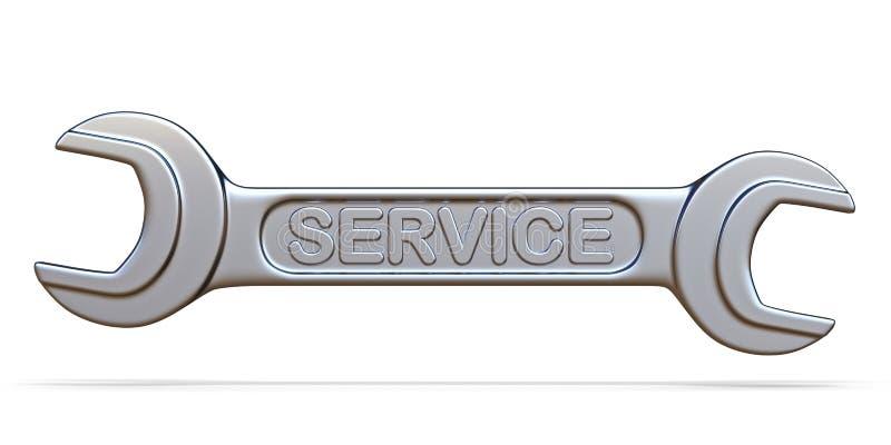 Εργαλείο γαλλικών κλειδιών υπηρεσιών τρισδιάστατο διανυσματική απεικόνιση