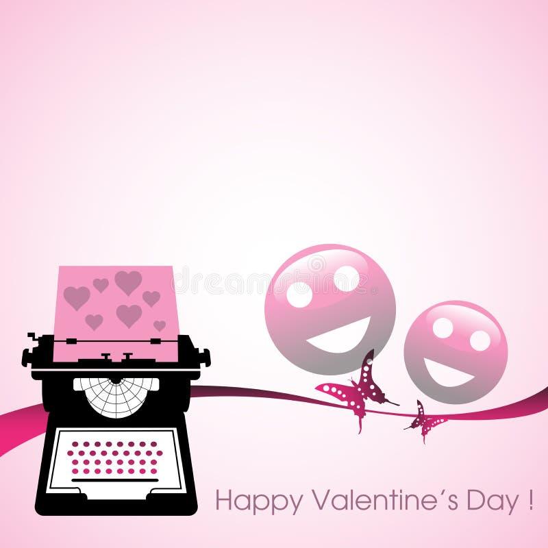 Εργαλείο δακτυλογράφησης επιστολών αγάπης απεικόνιση αποθεμάτων