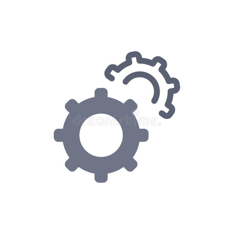 Εργαλείο, εργαλεία, θέτοντας επίπεδο εικονίδιο χρώματος Διανυσματικό πρότυπο εμβλημάτων εικονιδίων ελεύθερη απεικόνιση δικαιώματος