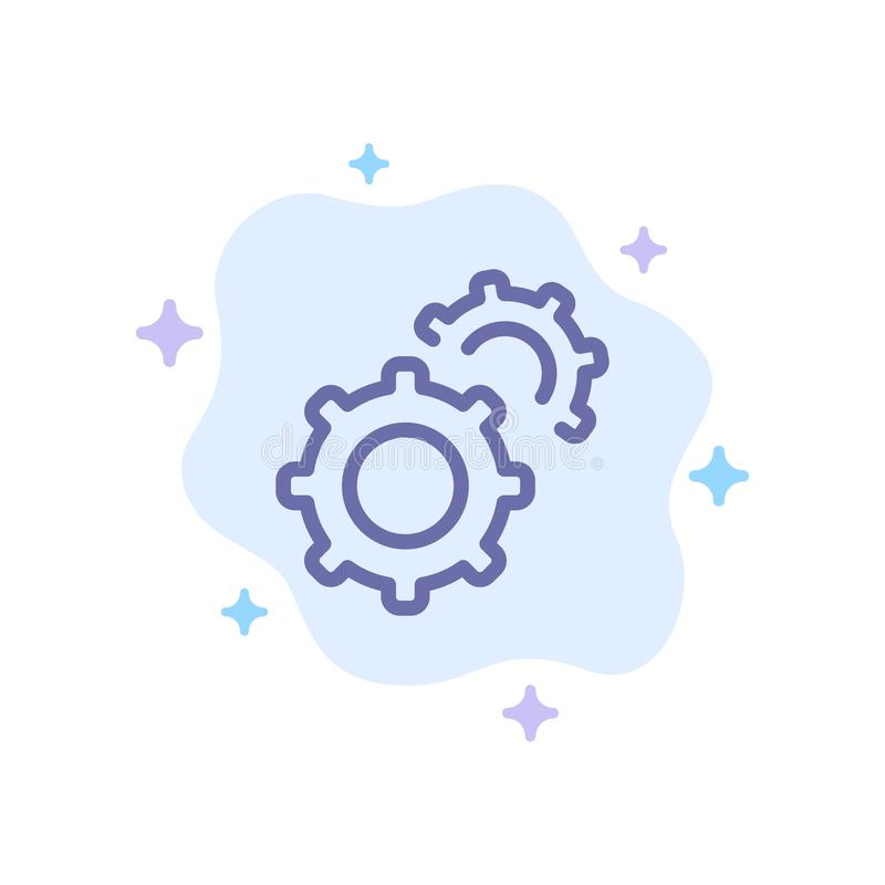 Εργαλείο, εργαλεία, θέτοντας μπλε εικονίδιο στο αφηρημένο υπόβαθρο σύννεφων διανυσματική απεικόνιση