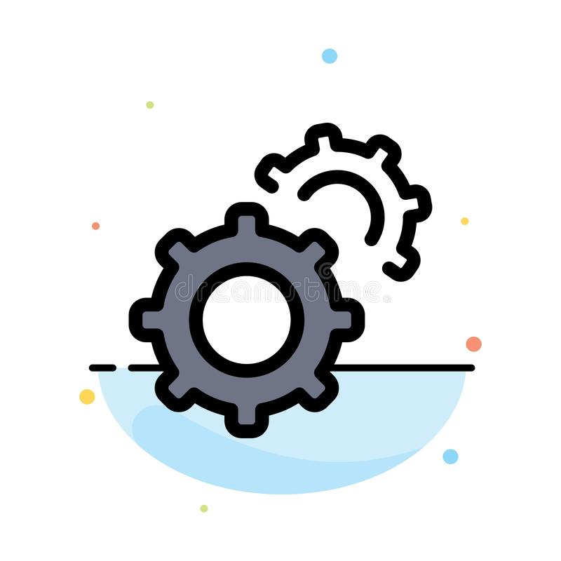Εργαλείο, εργαλεία, πρότυπο εικονιδίων χρώματος ρύθμισης αφηρημένο επίπεδο διανυσματική απεικόνιση