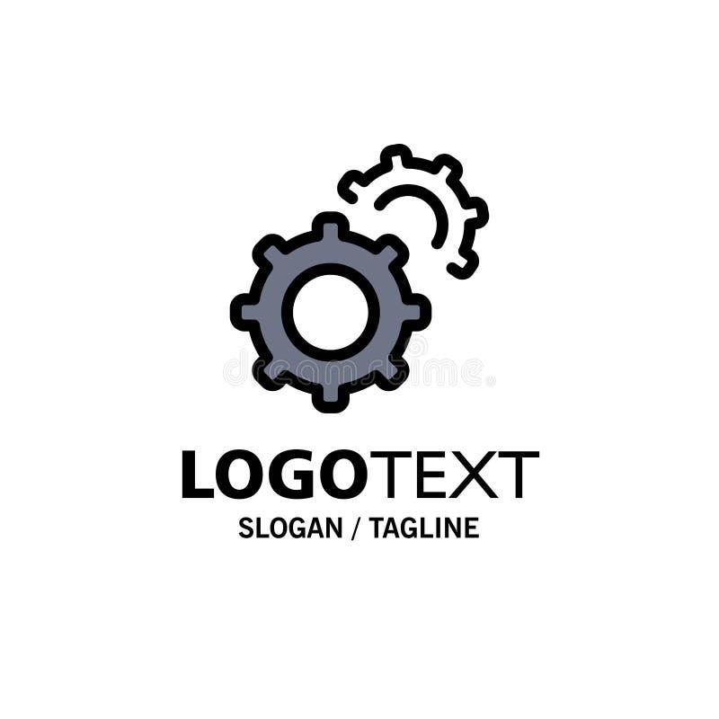 Εργαλείο, εργαλεία, πρότυπο επιχειρησιακών λογότυπων ρύθμισης Επίπεδο χρώμα ελεύθερη απεικόνιση δικαιώματος