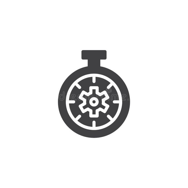 Εργαλείο μέσα στο διανυσματικό εικονίδιο χρονομέτρων με διακόπτη διανυσματική απεικόνιση
