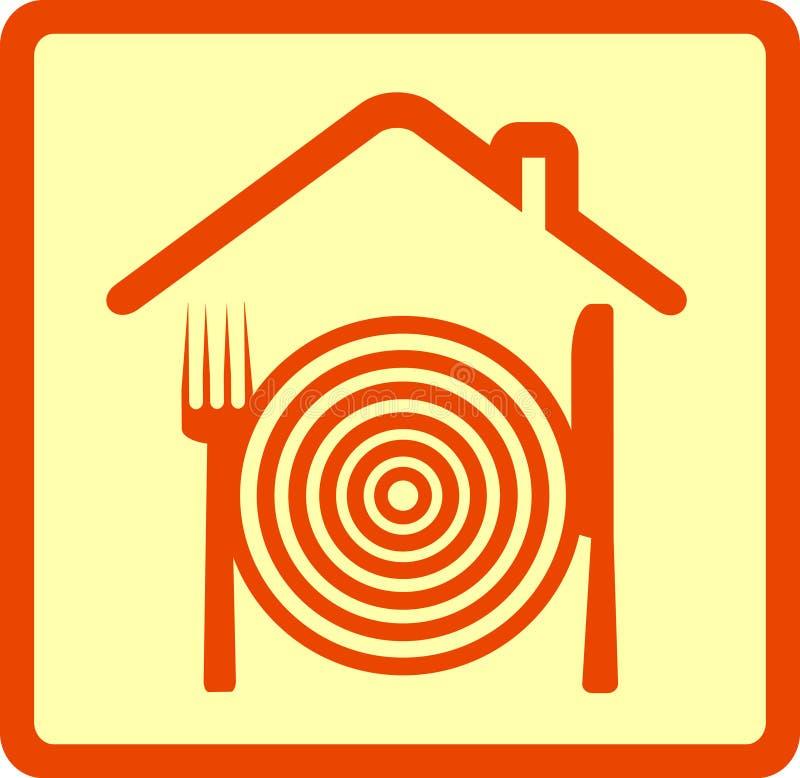 εργαλείο σημαδιών εστιατορίων διανυσματική απεικόνιση