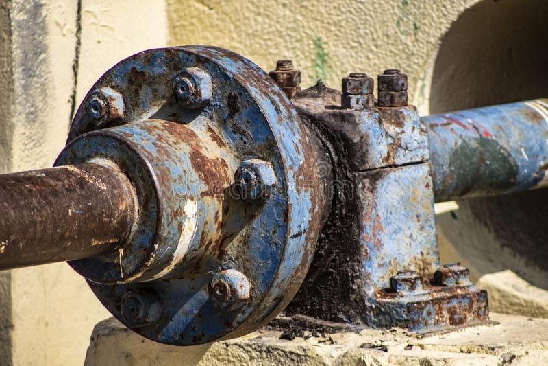 Εργαλείο της σκουριασμένης υδραυλικής αντλίας στοκ εικόνα