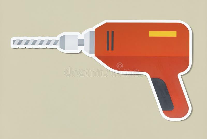 Εργαλείο χειρός τρυπανιών απομονωμένος ελεύθερη απεικόνιση δικαιώματος