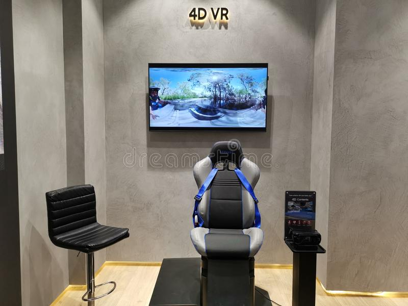 Εργαλείο VR εμπειρίας της Samsung 4D στοκ φωτογραφία
