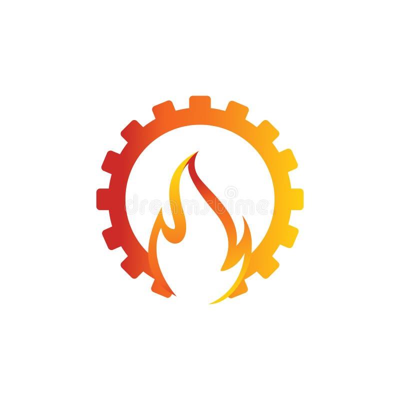 Εργαλείων και φλογών βιομηχανικό λογότυπων διάνυσμα προτύπων σχεδίου διανυσματικό διανυσματική απεικόνιση