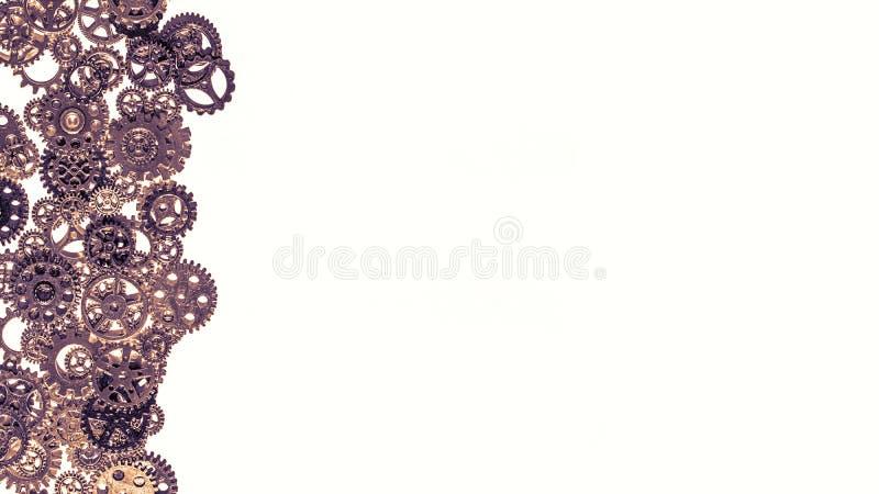 Εργαλείων και cogwheels μετάλλων υπόβαθρο στοκ εικόνες