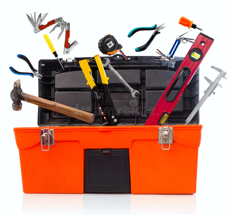 Εργαλειοθήκη με τα εργαλεία στοκ φωτογραφίες με δικαίωμα ελεύθερης χρήσης