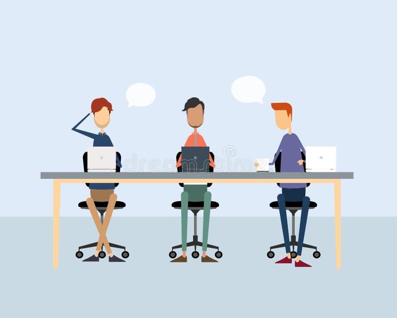 Εργασία ανθρώπων επιχειρησιακών ομάδων διανυσματική απεικόνιση