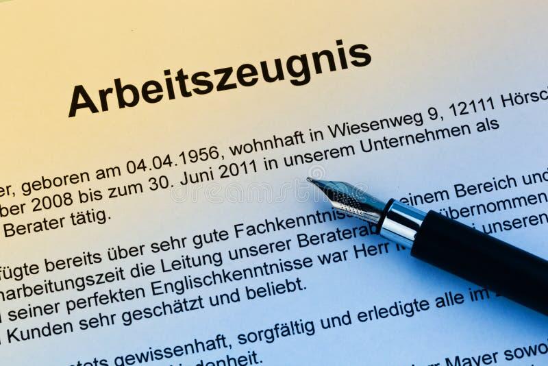 εργασία γερμανικής γλώσ&sig στοκ φωτογραφίες με δικαίωμα ελεύθερης χρήσης