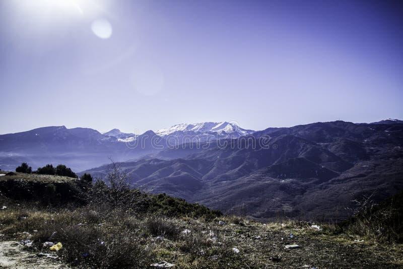 Εργασία για το βουνό στοκ φωτογραφία