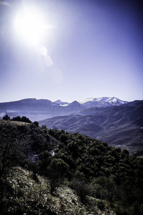 Εργασία για το βουνό στοκ εικόνες