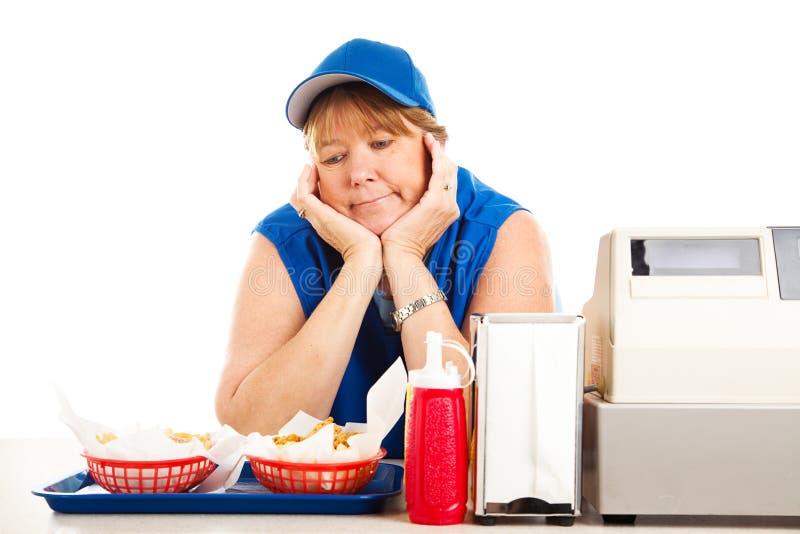 Εργασία γρήγορου φαγητού αδιεξόδων στοκ εικόνες με δικαίωμα ελεύθερης χρήσης