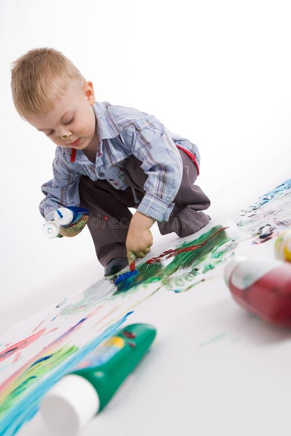 εργασία ζωγράφων στοκ εικόνες