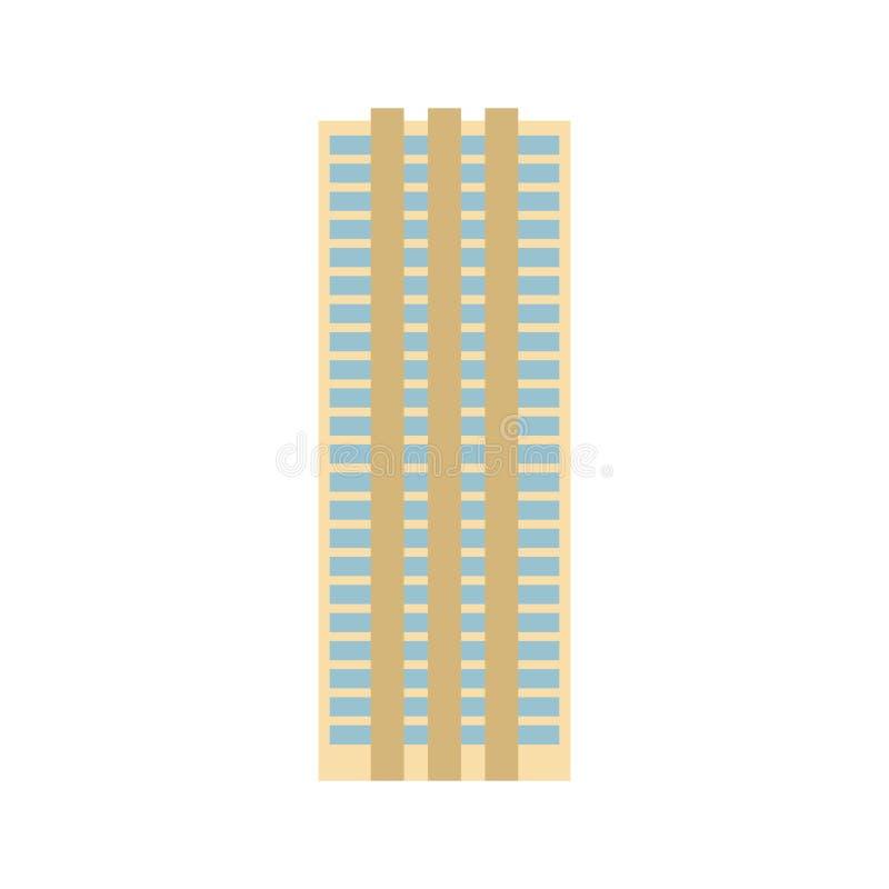 εργασία θέσεων επιχειρησιακών γραφείων κτηρίου διαμερισμάτων σημάδι αρχιτεκτονικής πόλεων Επιχείρηση struc διανυσματική απεικόνιση