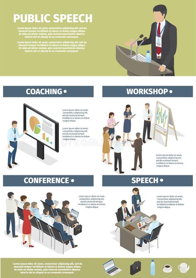 Εργασία και κατάρτιση με τις γραφικές παραστάσεις των διευθυντών επιχείρησης διανυσματική απεικόνιση