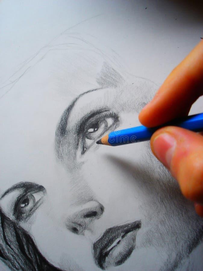εργασία καλλιτεχνών στοκ εικόνες με δικαίωμα ελεύθερης χρήσης