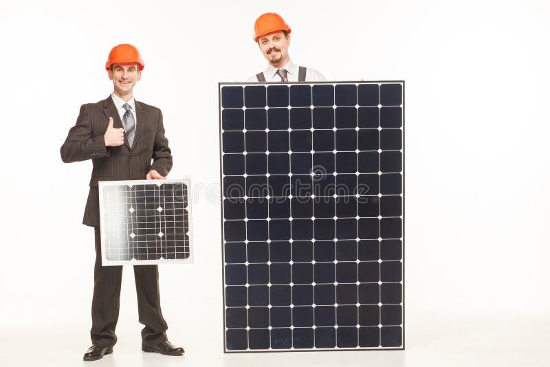 Εργασία με το χαμόγελο ηλιακών πλαισίων στοκ εικόνα με δικαίωμα ελεύθερης χρήσης