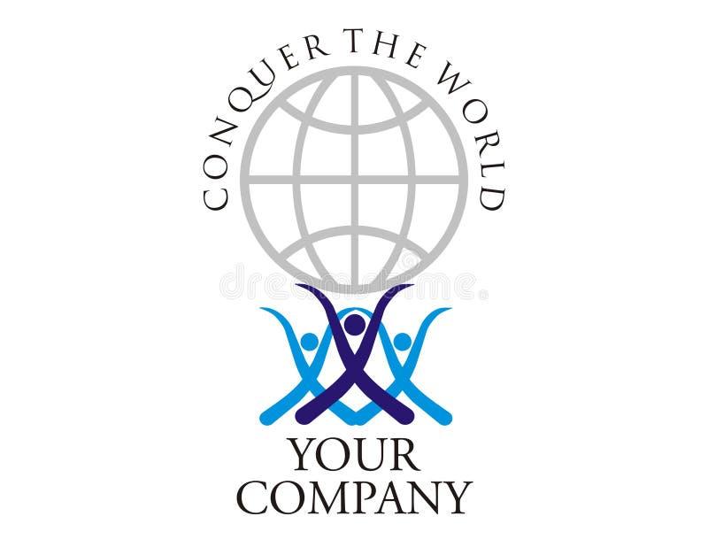 εργασία ομάδων δύναμης λογότυπων ελεύθερη απεικόνιση δικαιώματος