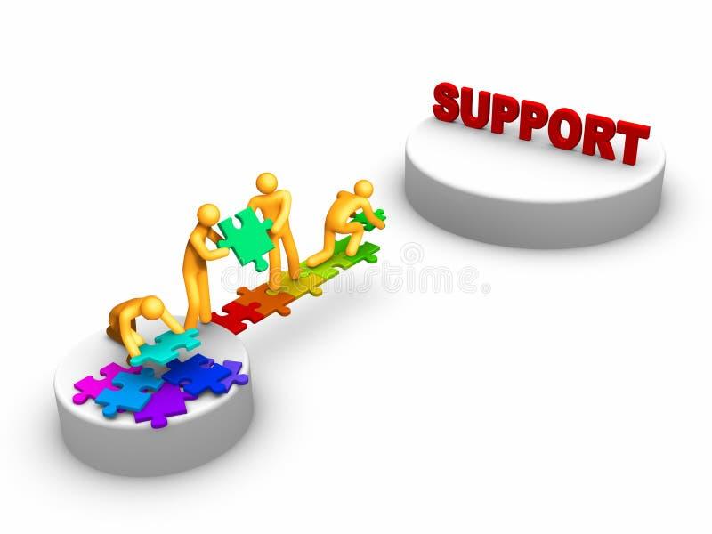 εργασία ομάδων υποστήριξ&et διανυσματική απεικόνιση