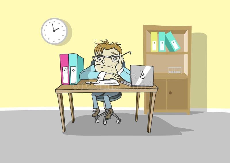Εργασία πίεσης διανυσματική απεικόνιση