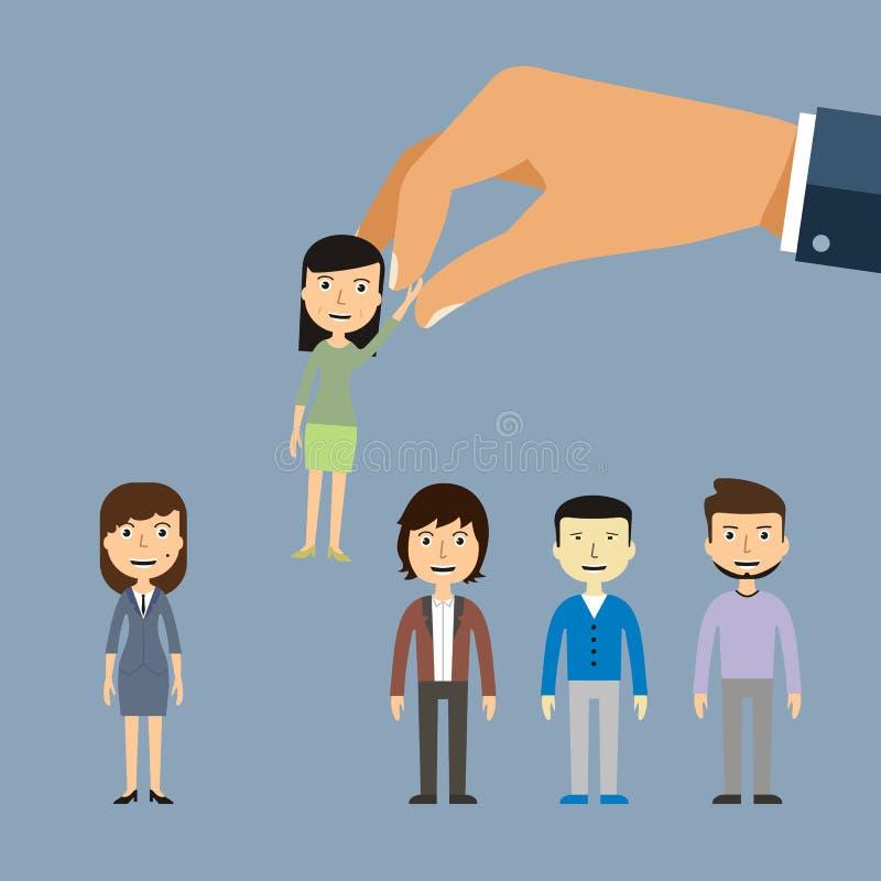 Εργασία που προσλαμβάνει την πρόσληψη από την επιχείρηση απασχόλησης Αναζητήσεις εργασίας, διανυσματική απεικόνιση